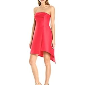 Halston Heritage Poppy Mini Strapless Dress NWT